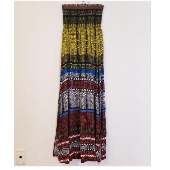 Xhilaration Dresses & Skirts - 🌞4/$25  Xhilaration Strapless Boho Maxi Dress